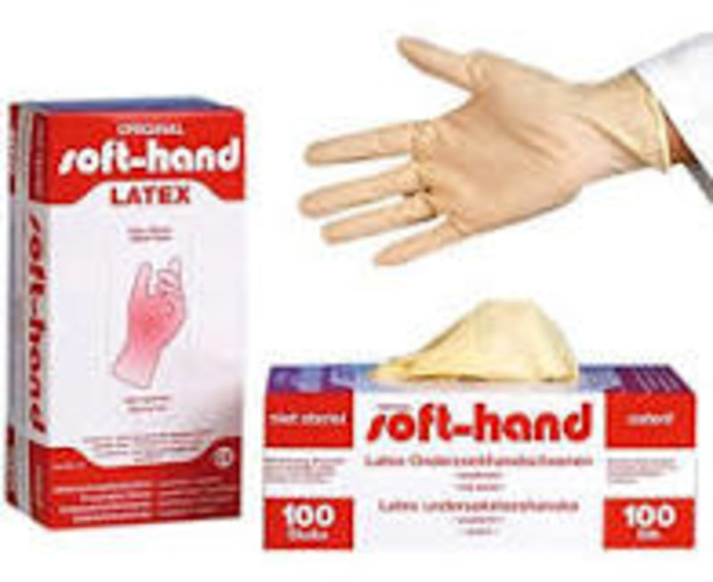 soft-hand Latex-Unters.Hand.puderfr.unster. Gr.S
