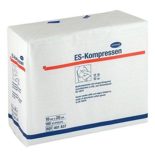 ES Kompressen steril 10x20cm 12fach 17 fädig PZN 01808997 - PK/100